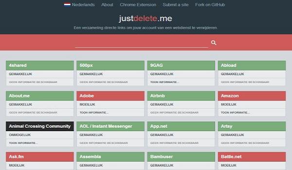 Just Delete Me Website