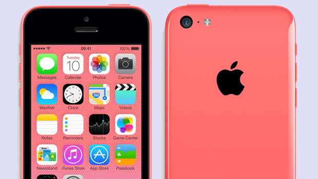 The pink iPhone 5C