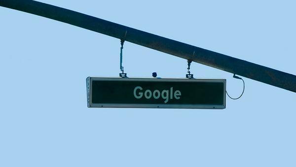 Google road sign