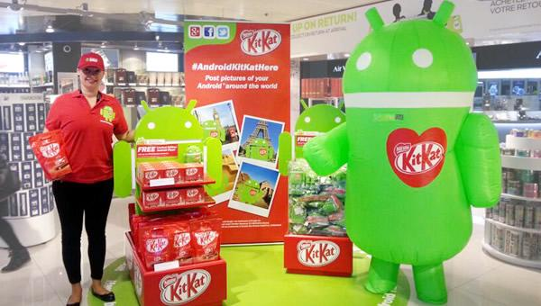 Android KitKat here promotion