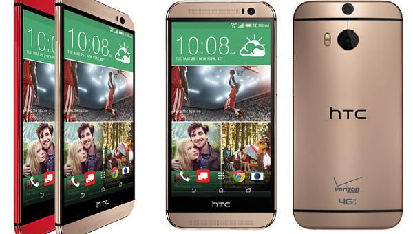 Red Gold Verizon HTC One M8