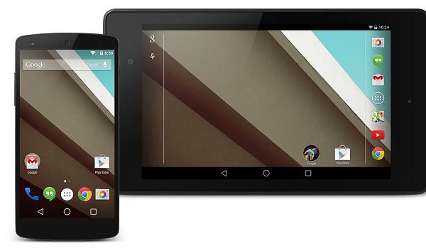 Android L Nexus 5 Nexus 7
