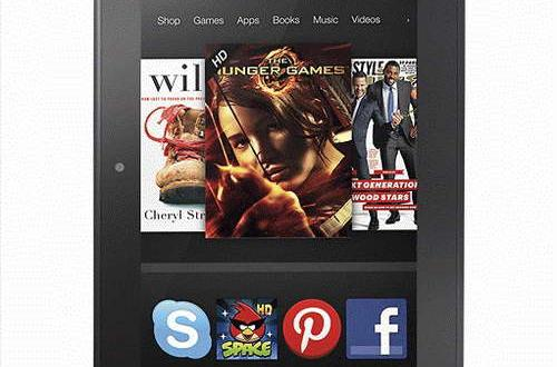 stock render Amazon Kindle Fire HD