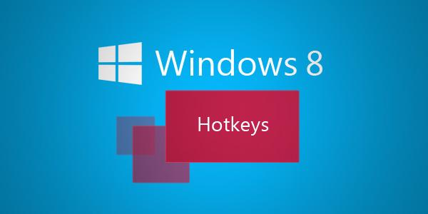 Windows 8 hotkeys