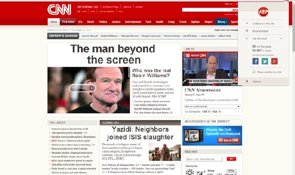 Adblock Plus CNN Chrome