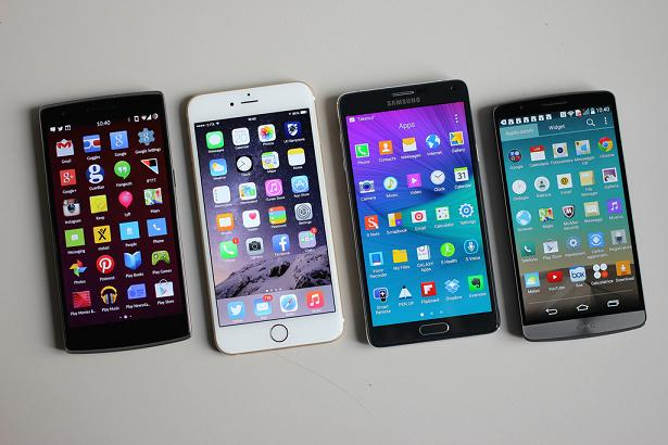LG G3, OnePlus, iPhone 5, Samsung Galaxy S5