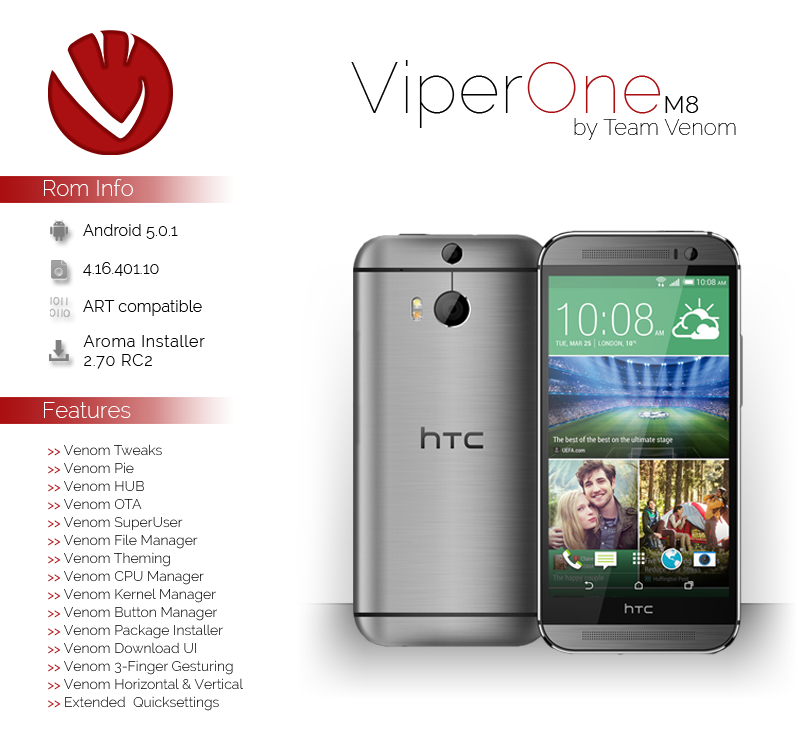 HTC One M8 Viper ROM