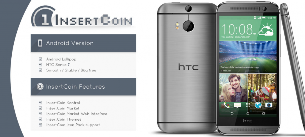 InsertCoin HTC One M8 ROM