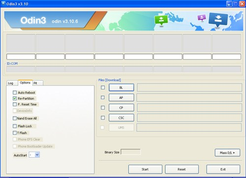 Odin downloader