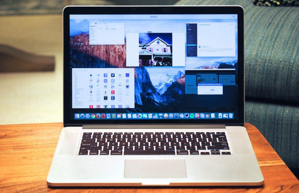 Mac laptop with El Capitan