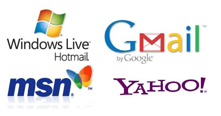 Logos-Gmail-Hotmail-MSN-Yahoo