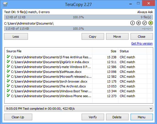Copy and Move Files Faster with TeraCopy | ConsumingTech