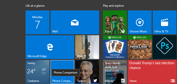 Windows Mail tile