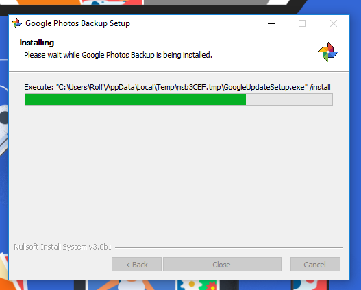 google-photos-installing