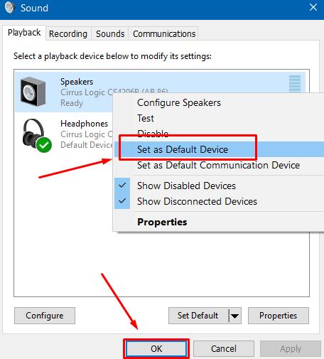 set-default-device-ok