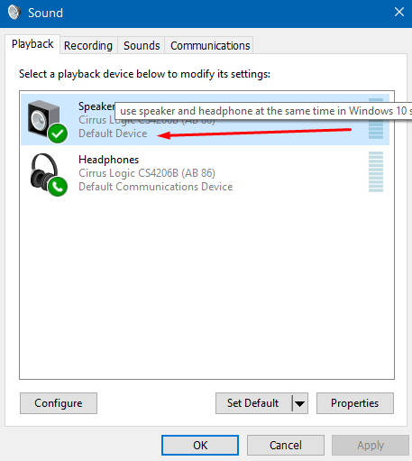 speakers-default-device