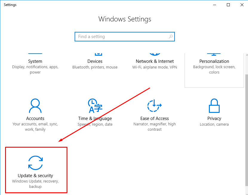update-and-security-windows-10