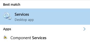 Services desktop app