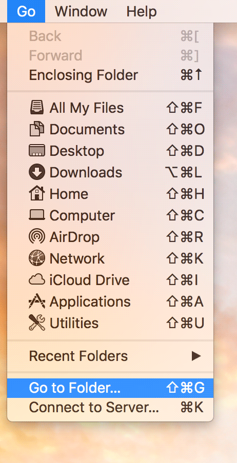 enable-library-mac-go-to-folder