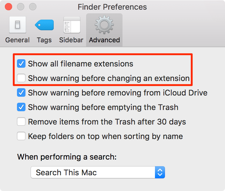 file-extension-mac-options