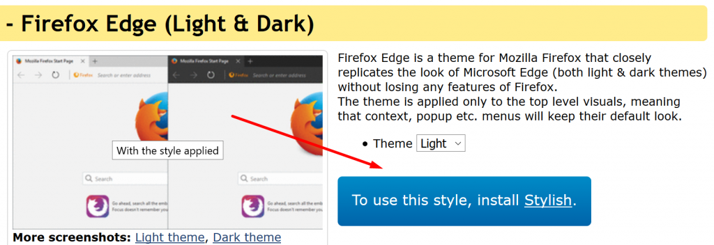firefox-edge-stylish