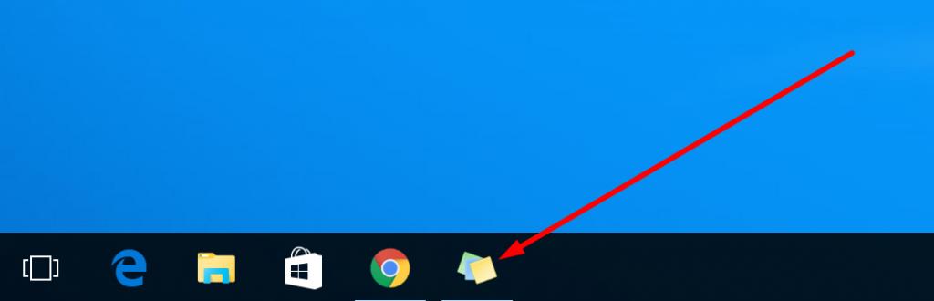 sticky-app-taskbar
