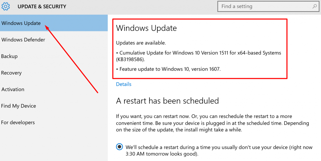 windows-update-scheduled