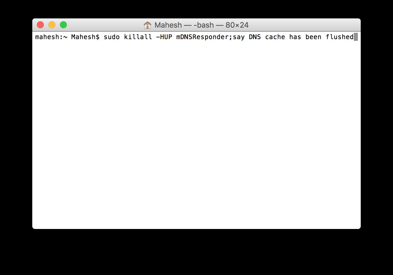 mac-dns-cache-command