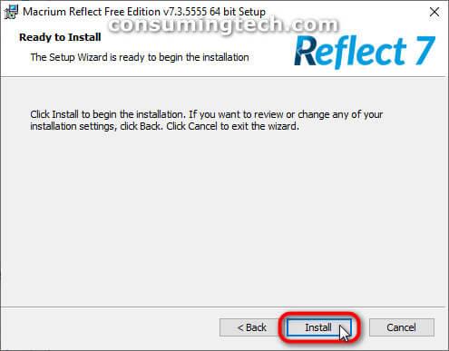 Macrium Reflect: Ready to install