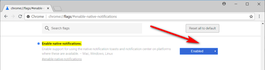 Enable/Disable Native Google Chrome Notifications in Windows