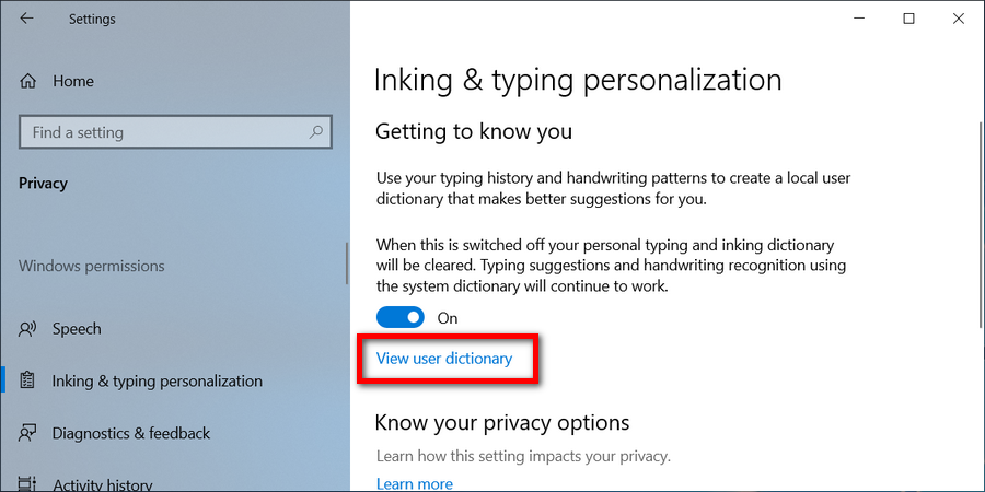 Add or Remove Words in Spell Checking Dictionary in Windows 10