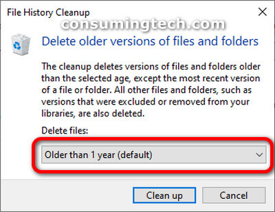 Delete older versions files and folders