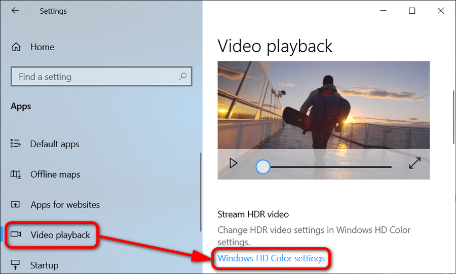 How to Change Video Playback Settings in Windows 10