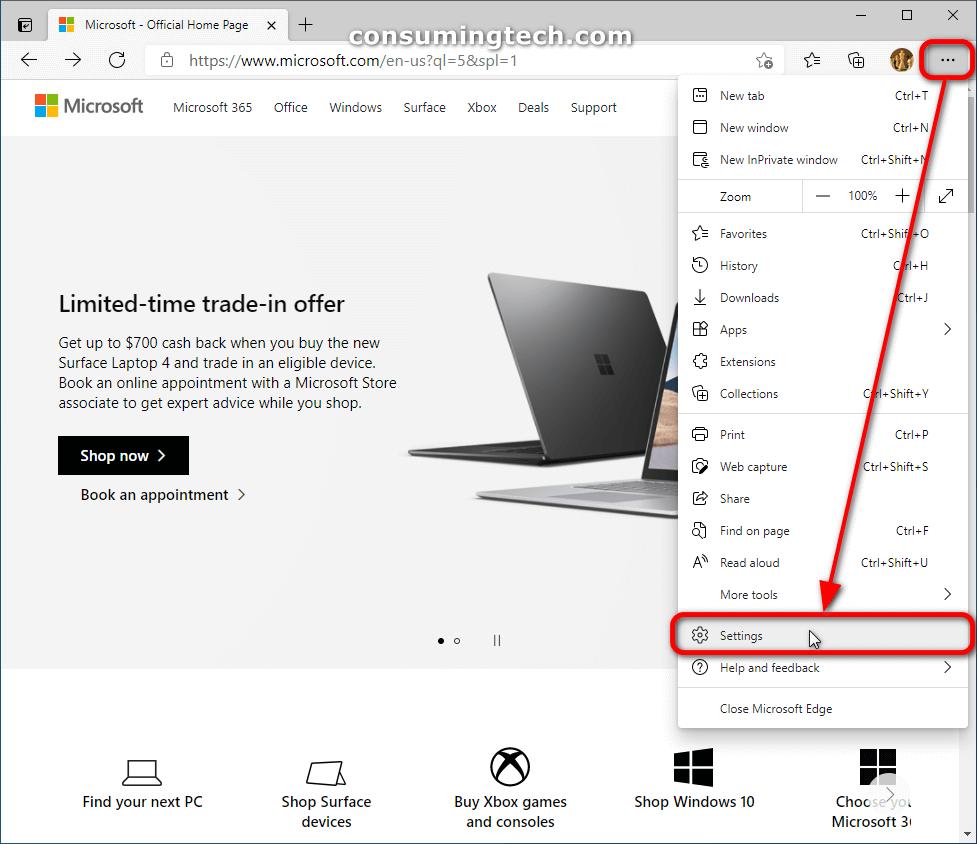 Microsoft Edge: Settings