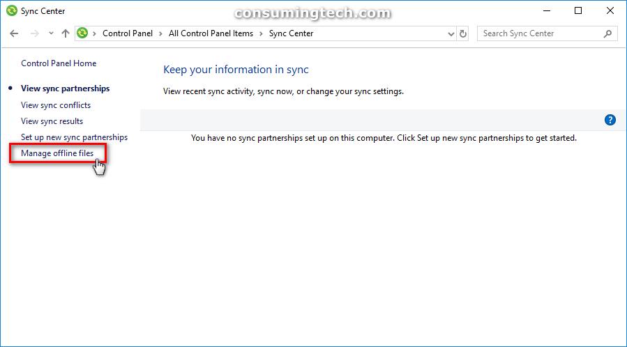 Manage offline files