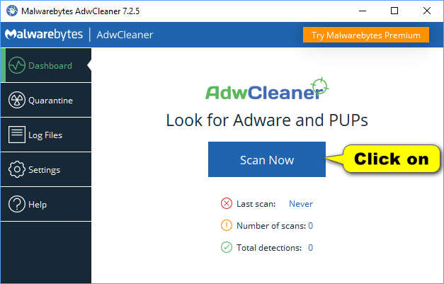 AdwCleaner - Scan Now