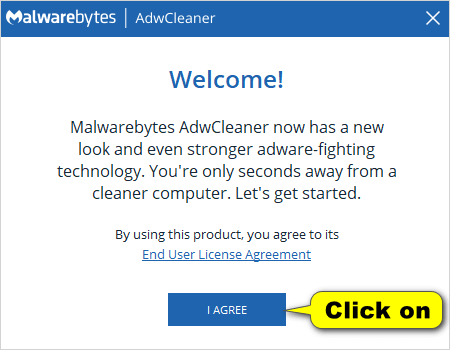 AdwCleaner welcome