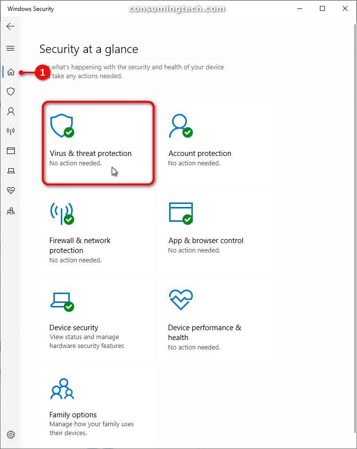Windows Security: Security at a glance