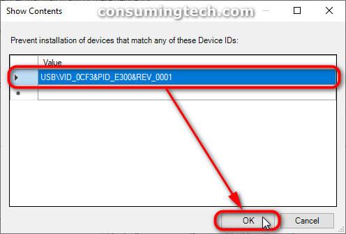Show Controls: Adding the hardware ID value