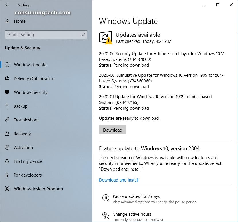 Windows 10 Build 18363.900