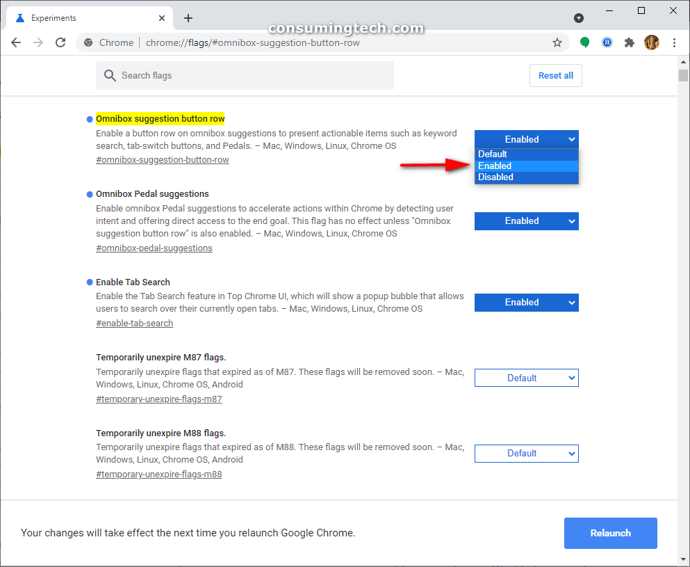 Chrome Direct Actions: Omnibox suggestion button row