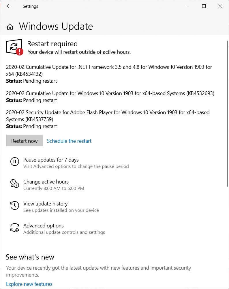 Windows 10 Version KB4532693