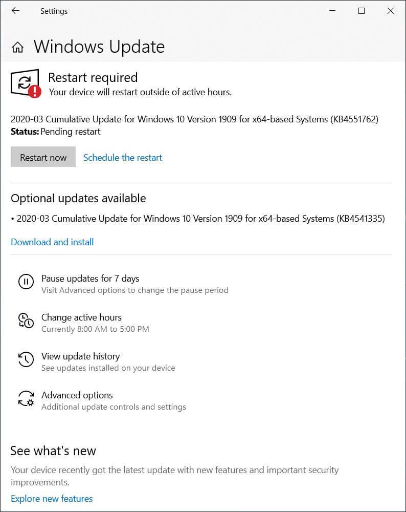 Windows 10 KB4551762
