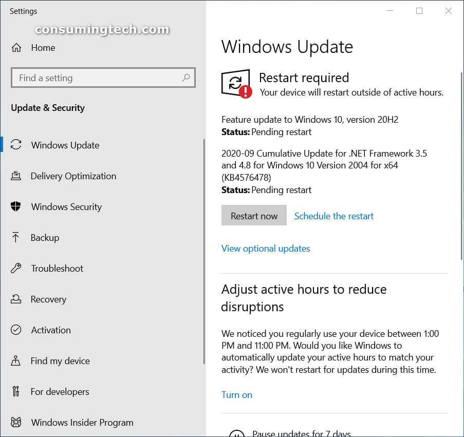 Windows 10 KB4576478