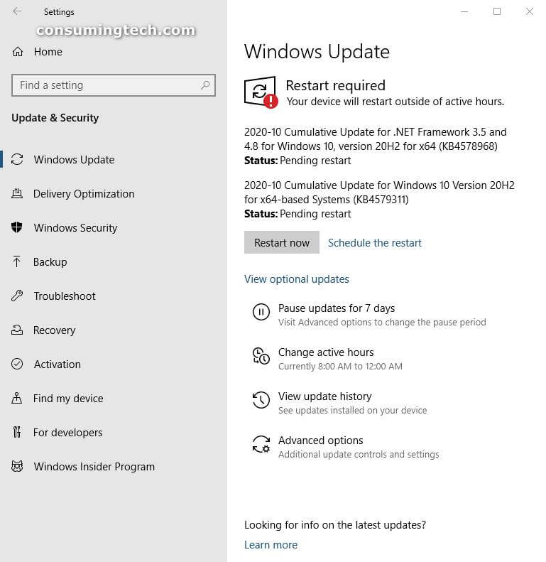 Windows 10 KB4578968