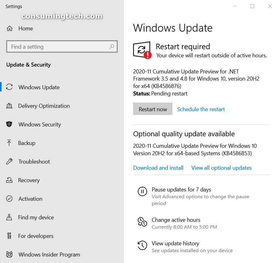 Windows 10 KB4586876