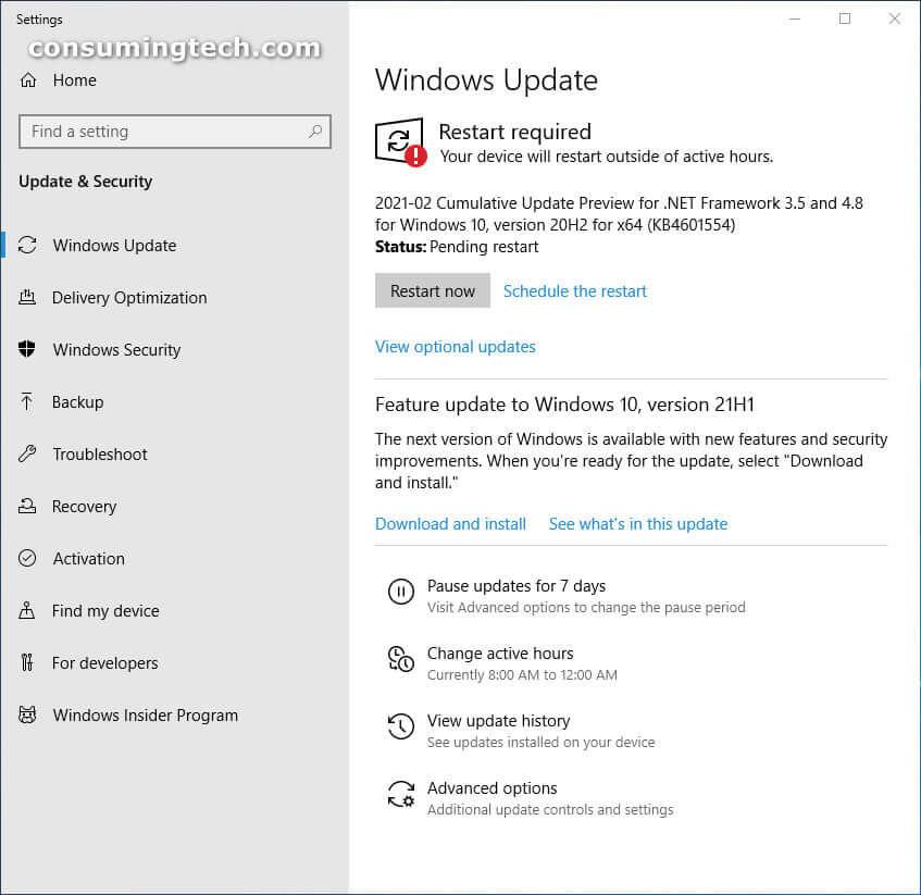 Windows 10 KB4601554
