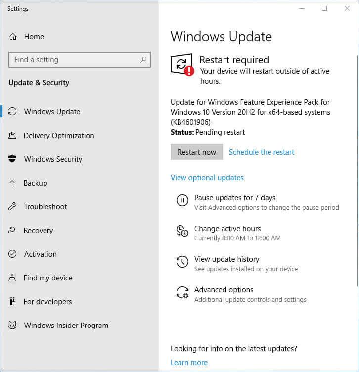 Windows 10 KB4601906