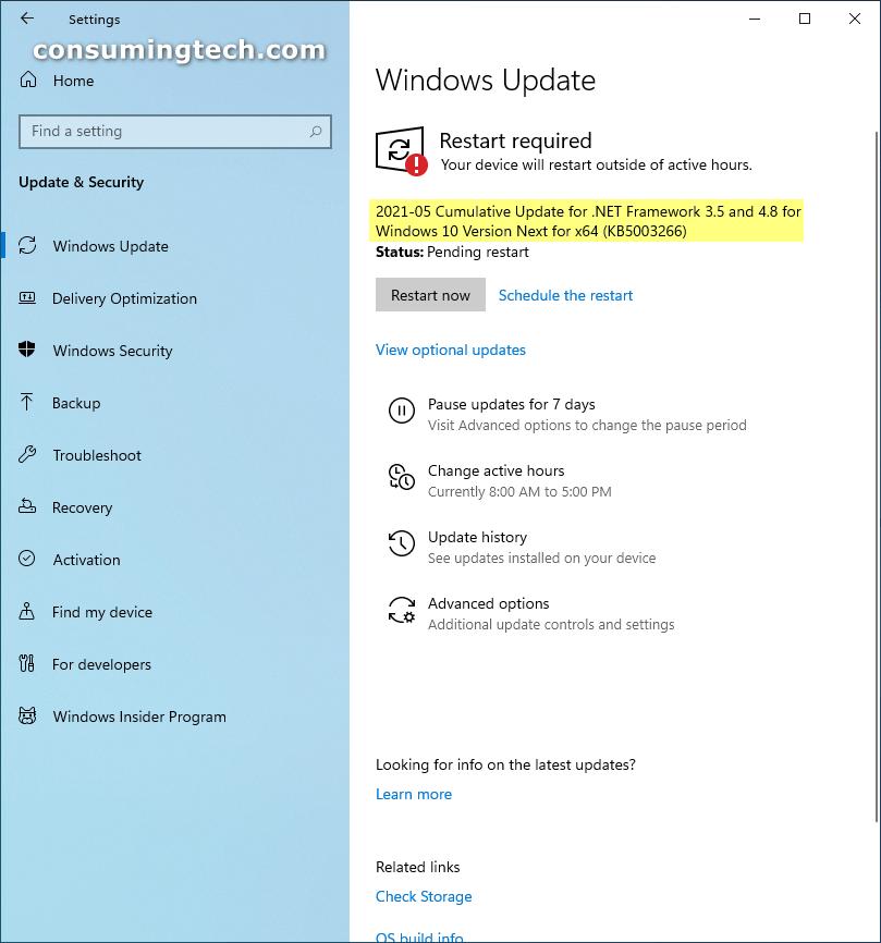 Windows 10 KB4601556