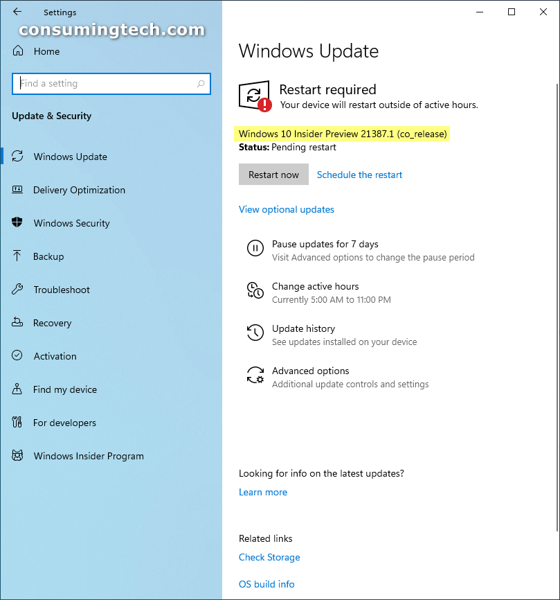Windows 10 Insider Preview 21387.1